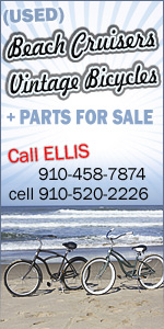 Grat prices on used bicyles, cruisers, vintage, 3 wheelers